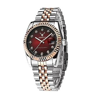 Ladies Watch Gold Silver Women Woman Smart Watches Two Tone Red Present