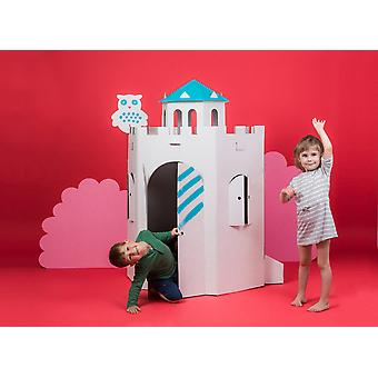 Gran castillo de cartón color-in