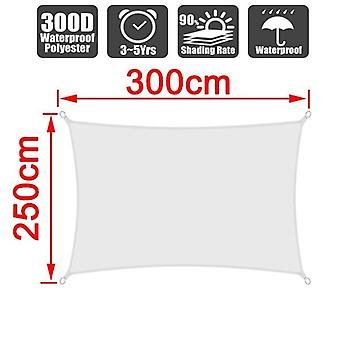 White Rectangle, Waterproof Sun Sunshade Protection, Outdoor Canopy, Garden