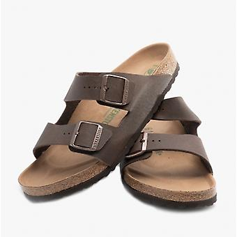 Birkenstock Arizona 1015526 (reg) Mens Birko-flor Two Strap Sandals Brown