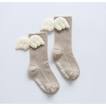 Vastasyntyneet vauvan sukat siivet Ohut tyyppi Puuvilla Crew Sukat
