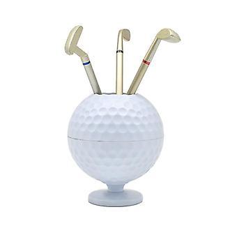 Novelty Mini Golf Ball Pen Pencil Holder Desktop Accessories