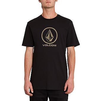 Volcom Hombres's Camiseta de algodón orgánico ~ Negro piedra crujiente
