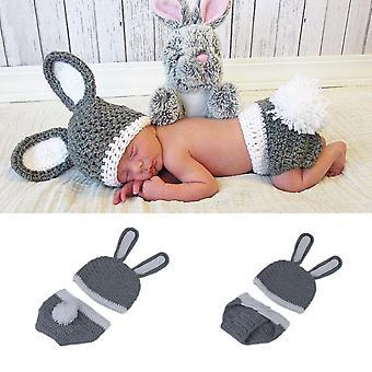 Adereços de fotografia de fotografia de fotos de animais de desenho animado recém-nascido