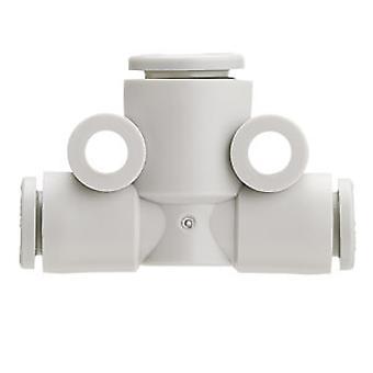 SMC Kq2 pneumatische Tee buis-naar-Tube Adapter, Push In 6 Mm
