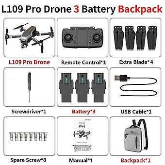 L109 pro gps drone 5g wifi 800m fpv avec caméra hd 4k 2-a&xis anti-shake autostabilisant gimbal brossage rc drones quadcopter