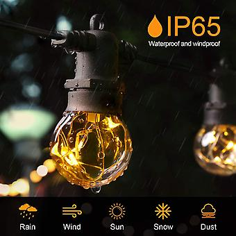 HanFei LED Lichterkette Auen 13,5M IP67 36er Birnen wasserdicht Lichterkette Glhbirnen Outdoor Innen