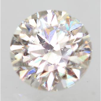 Certified 0.31 Carat G VS2 Round Brilliant Enhanced Natural Loose Diamond 4.32mm