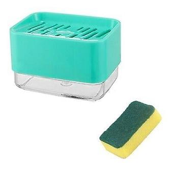 Boîte de distributeur de pompe à savon avec le nettoyeur à la maison de support d'éponge