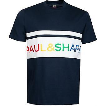 Paul & Shark Block Logo T-Shirt