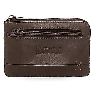 Movom Fantasy Brown Coin Purse 11x7x1.5 cms Leather