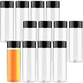 FengChun Leere Plastikflaschen Leere Plastikflaschen 12 Pack Klare Flaschen Zum Befüll 400ml Klare