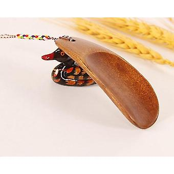 Artisanat portable Long Manche naturelle Corne de chaussure en bois