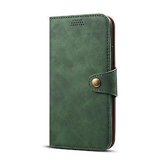Slot per carte custodia in pelle portafoglio per iphonexs6.1 verde scuro pc2160
