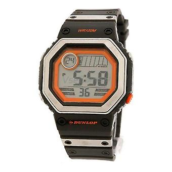 Dunlop watch dun-77-g02 dark grey band-orange