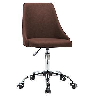 vidaXL bureaustoelen 2 st. stof Bruin