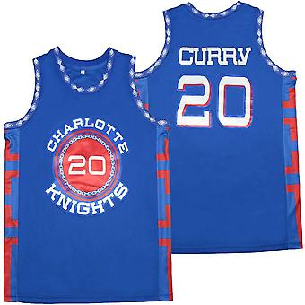 Mens Basketball Jersey #20 Stephen Curry Space Movie Jersey 90s Hip Hop Clothing For Party S-xxl