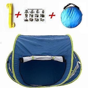 Tummansininen vauvan ranta telttattava pop up tentupf 50 + aurinkosuojatbaby sävy hyttysverkko x7949