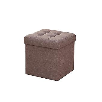 Coffee 38x38x40cm multi-purpose large capacity foldable storage stool homi2096