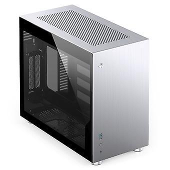 Jonsbo V10 Mini-ITX Sak - Sølv Vindu