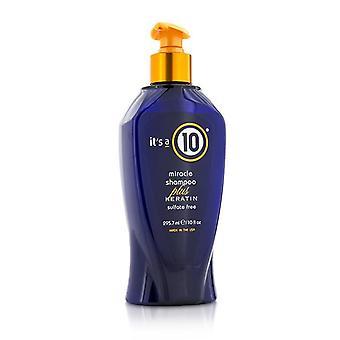 Det är en 10 mirakel schampo Plus Keratin (sulfat gratis) 295.7 ml/10 oz