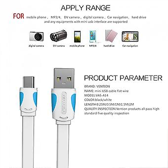Vention A14 Usb 2.0 Male To Mini Usb Cable Data Sync Charger Cable Flat Line
