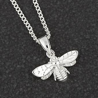 Dainty Honey Bee Silver Plated Necklace - Gift Boxed