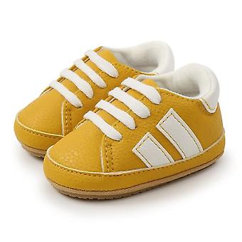 Baby first walkers shoes classic stripe leather anti-slip