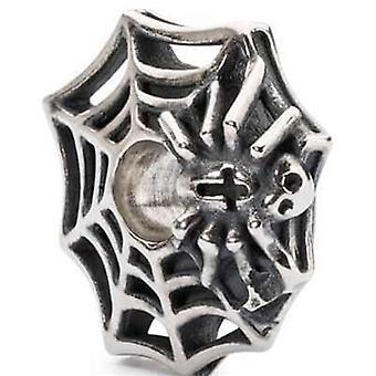 Trollbeads hopeahelmä hämähäkin web tagbe-30112