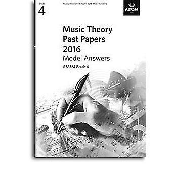 Abrsm Music Theory Passado Papers 2016 Model Answers: Grade 4