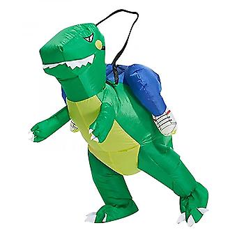 Parent-child Inflatable Green Dinosaur Inflatable Costume Halloween Cosplay