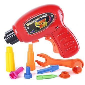 9pcs Simulazione Electric Drill Bits Repair Tool Kit Finta Gioca Gioco Giocattolo per bambini