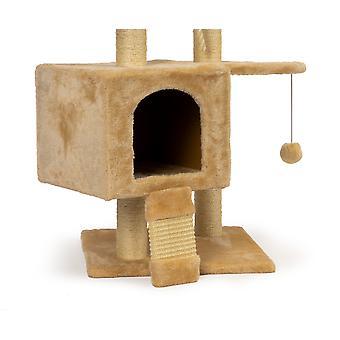 Katten krabpaal - speelhuisje - 40 x 40 x 120 cm - 5 plateaus