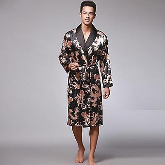 Summer/ Autumn- Satin Silk, Kimono Bathrobe