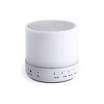 Bluetooth-kaiutin, jossa LED-valo USB 3W Valkoinen 146086