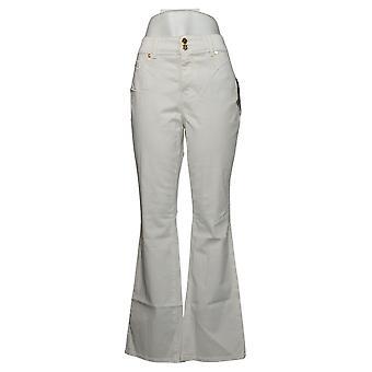 Global Chic By Iman Women's Pants Luxury Resort Slim Bootcut White 685831