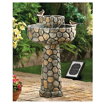 Cascading Fountains Stone-Look Water Fountain - Solar or Cord Power, Pack of 1