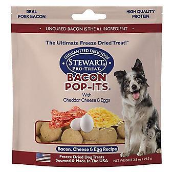 Stewart Bacon Pop-Its Bacon, Cheese, Egg Recipe Freeze Dried Dog Treat - 2.8 oz