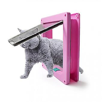 Pet Cat And Dog Intelligent Control, Easy To Install, Windproof Entry (pink S)