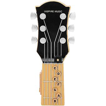 Air Guitar, Infrared Induction Simulation 7-chord Guitar Children's Toy, Portable Guitar Abs Plastic Shell Music Toy (black)