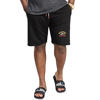 Duke D555 Mens Barnstaple Big Tall Kingsize Elasticated Fleece Shorts - Svart