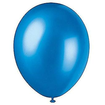 """Balloons 56882 - 12"""" pearlised latex cosmic blue balloons  pack of 50"""