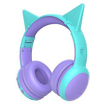 Bluetooth Headphone For Kids(Turquoise)