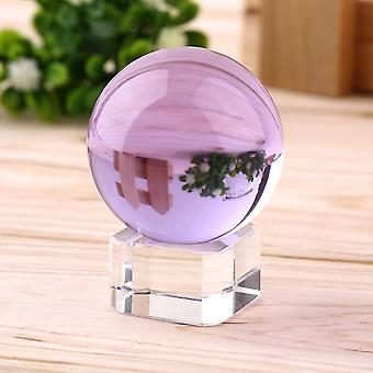 40mm Natural Quartz Purple Magic Crystal Healing Ball With Stand