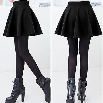 फैशन अद्वितीय महिला खिंचाव कमर सादा स्केटर भड़का प्लीटेड मिनी स्कर्ट