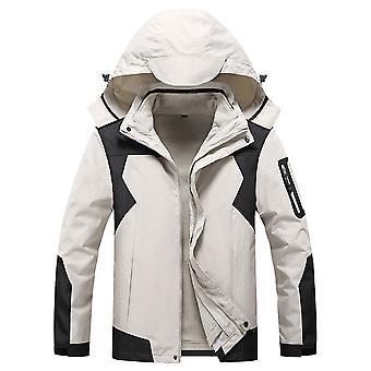 Mile Men's Waterproof Fleece Mountain Jacket Windproof Warm Ski Jacket