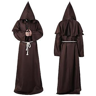 Wizard Cosplay Medieval Monk Friar Robe Priest Halloween Costumes