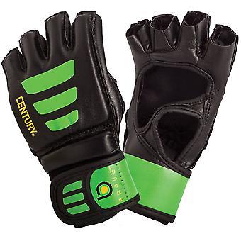 Eeuw jeugd dappere Open Palm MMA Trainingshandschoenen tas - zwart/groen