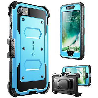 iPhone 7 Case, i-Blason [Armorbox caso] construído em protetor de tela, Apple Iphone 7 azul