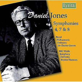D. Jones - Daniel Jones: Symphonies Nos. 4, 7, 8 [CD] USA import